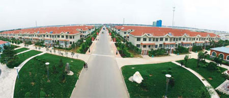 "Sanyuanzhu village is a demonstration village for Weifang's ""new countryside"", a key part of ongoing government efforts to promote urbanization. Provided to China Daily"