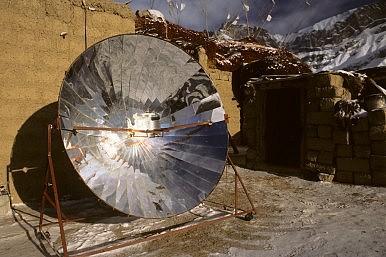 Image Credit: Solar cooker via Shutterstock.com